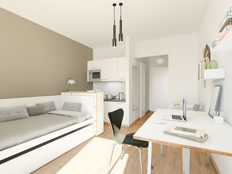 parksuites mikro apartments in berlin wilmersdorf. Black Bedroom Furniture Sets. Home Design Ideas