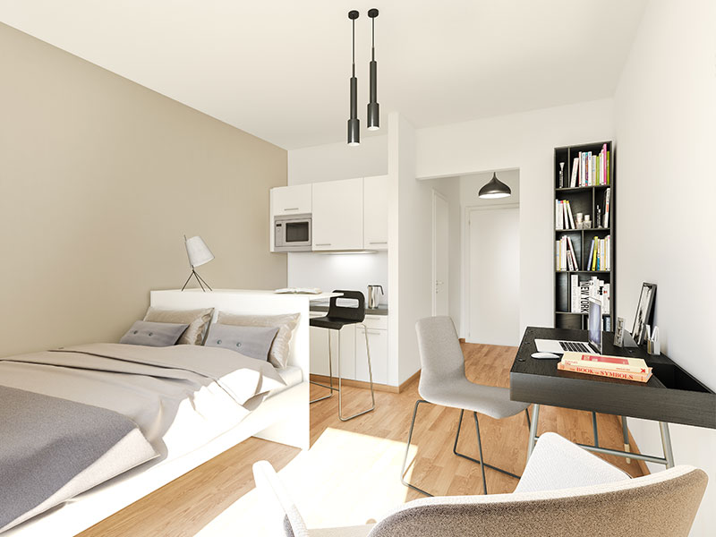 parksuites mikro apartments in berlin wilmersdorf project immobilien berlin. Black Bedroom Furniture Sets. Home Design Ideas