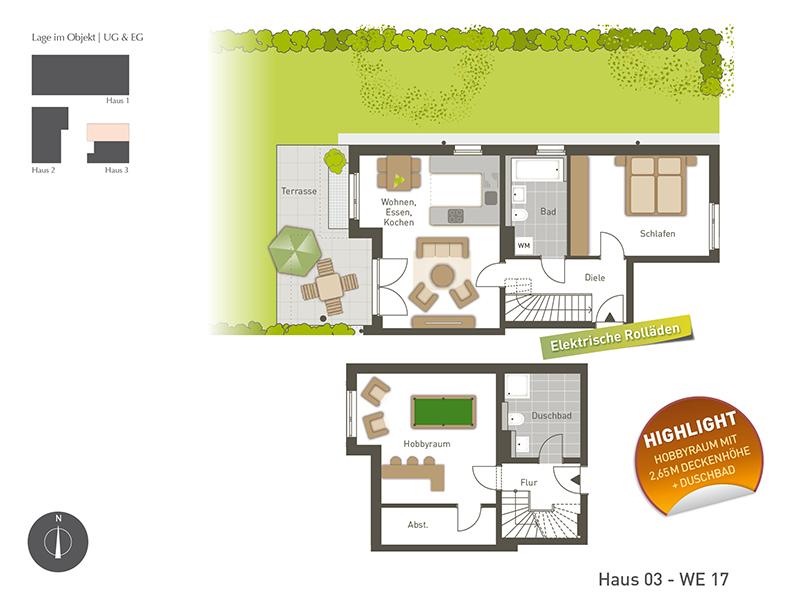 menzinger g rten we 17 2 zimmer wohnung m. Black Bedroom Furniture Sets. Home Design Ideas