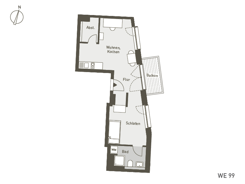 Studio Living Berlin B.1 | WE099 | 45 m²