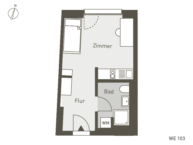 Studio Living Berlin B.1 | WE103 | 25 m²