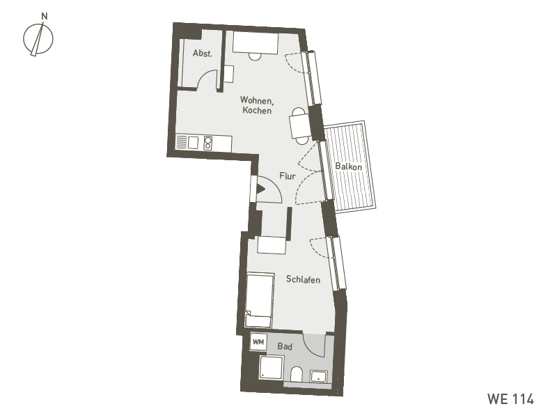 Studio Living Berlin B.1 | WE114 | 45 m²