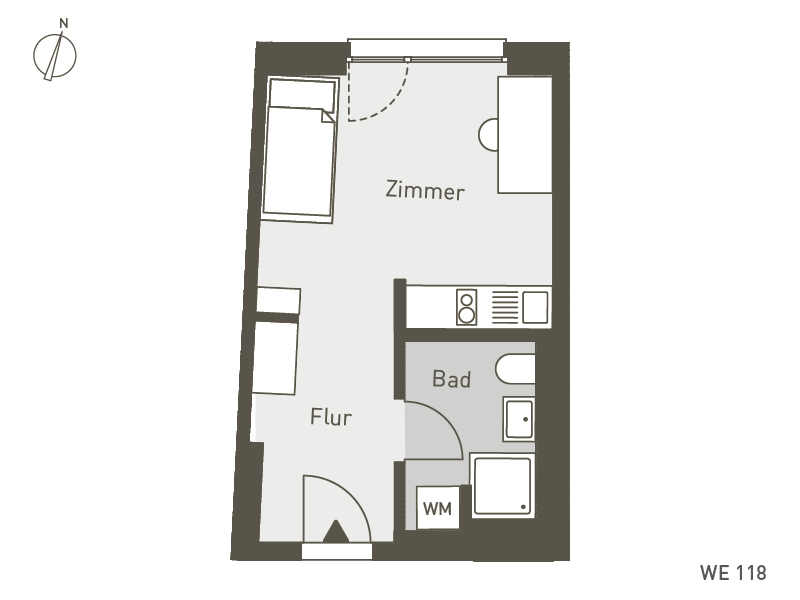 Studio Living Berlin B.1 | WE118 | 25 m²