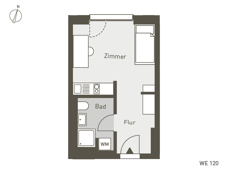 Studio Living Berlin B.1 | WE120 | 1-Zi. | 25 m²