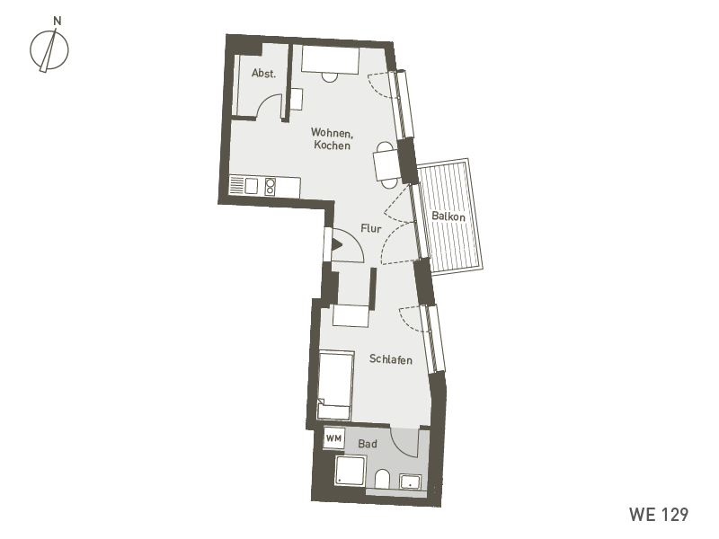 Studio Living Berlin B.1 | WE129 | 45 m²