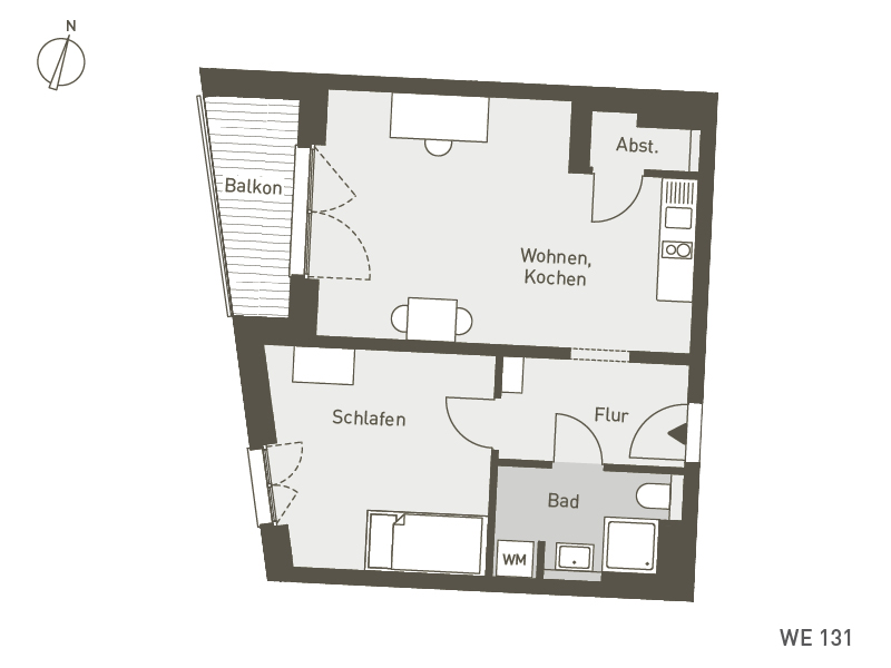 Studio Living Berlin B.1 | WE131 | 51 m²