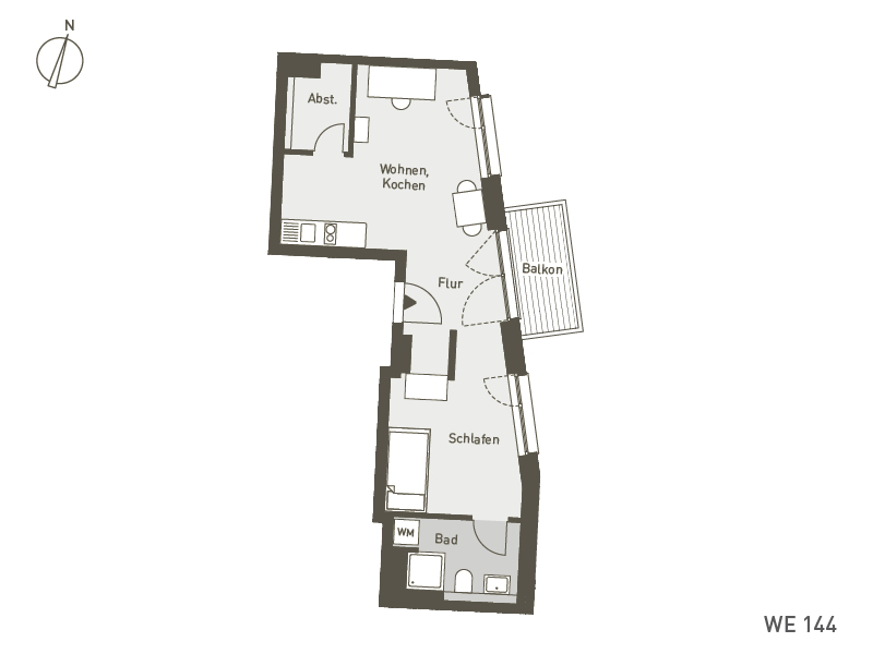 Studio Living Berlin B.1 | WE144 | 45 m²