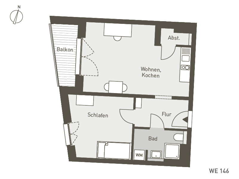 Studio Living Berlin B.1 | WE146 | 51 m²