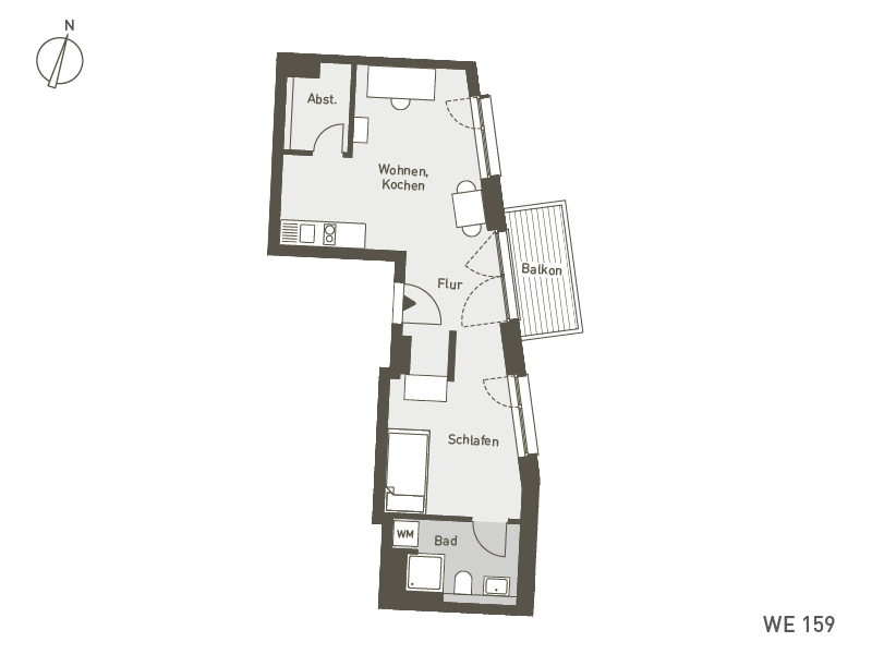 Studio Living Berlin B.1 | WE159 | 45 m²
