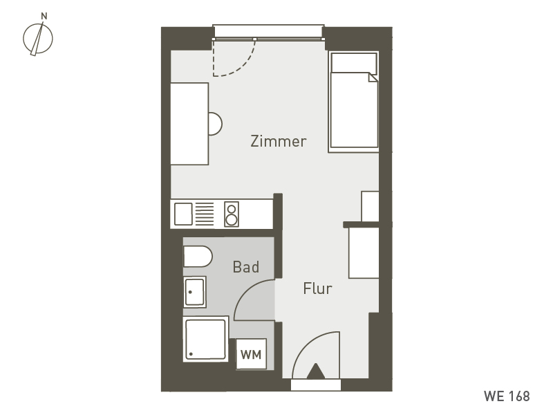 Studio Living Berlin B.1 | WE168 | 1-Zi. | 25 m²