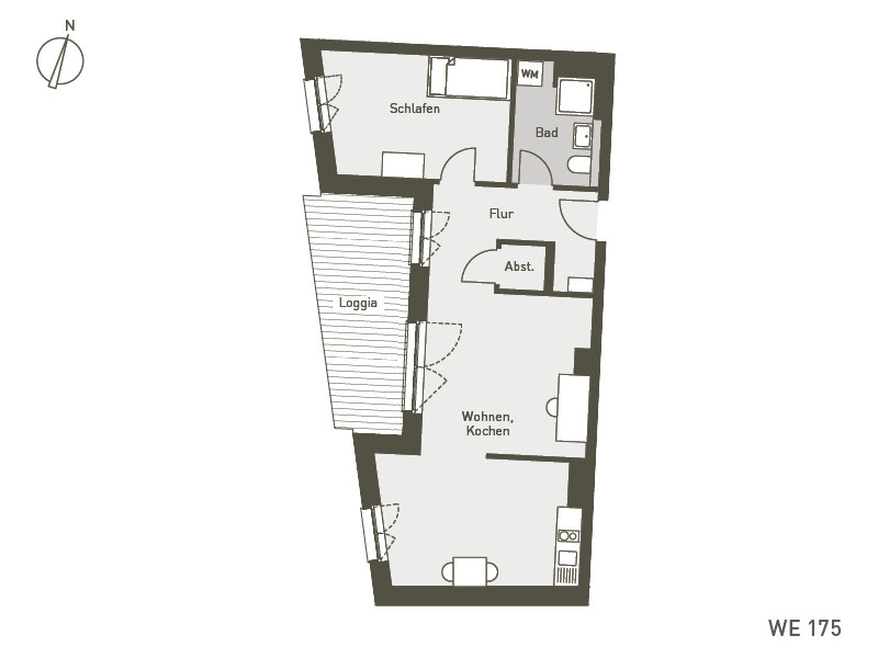 Studio Living Berlin B.1 | WE175 | 65 m²
