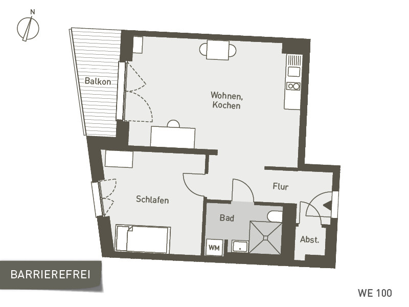 Studio Living Berlin B.1 | WE100 | 57 m²
