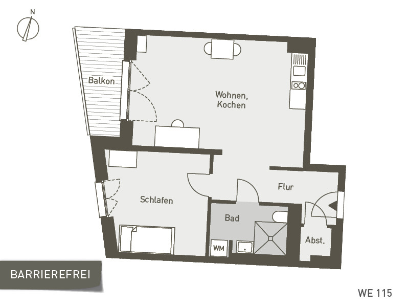 Studio Living Berlin B.1 | WE115 | 57 m²