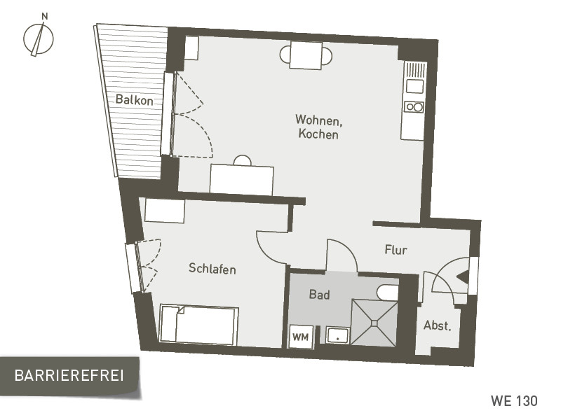 Studio Living Berlin B.1 | WE130 | 57 m²