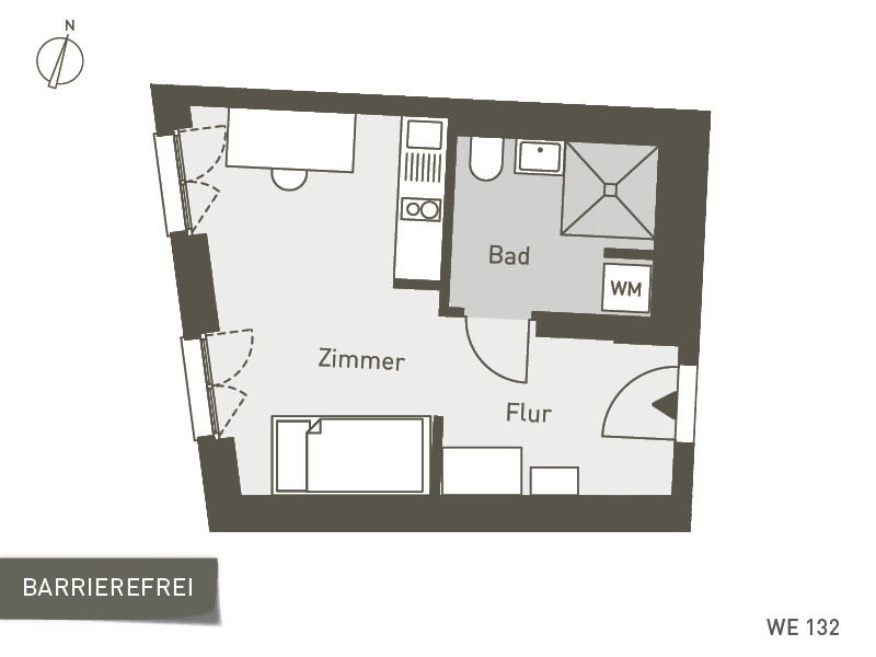 Studio Living Berlin B.1 | WE132 | 27 m²
