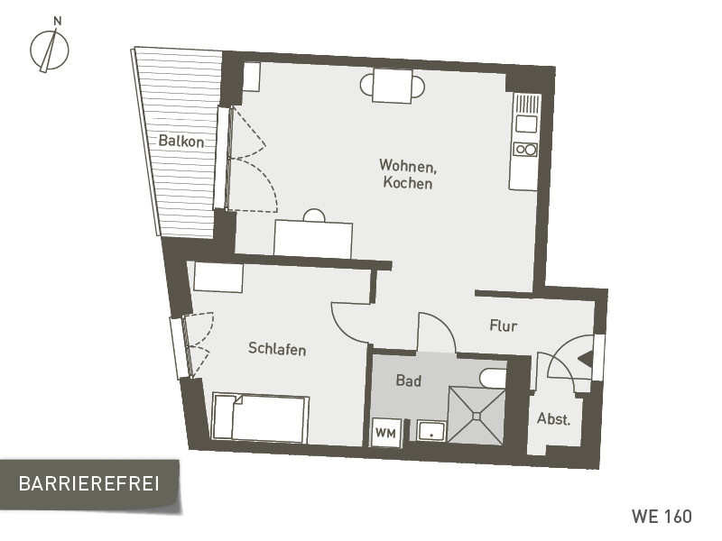 Studio Living Berlin B.1 | WE160 | 50 m²