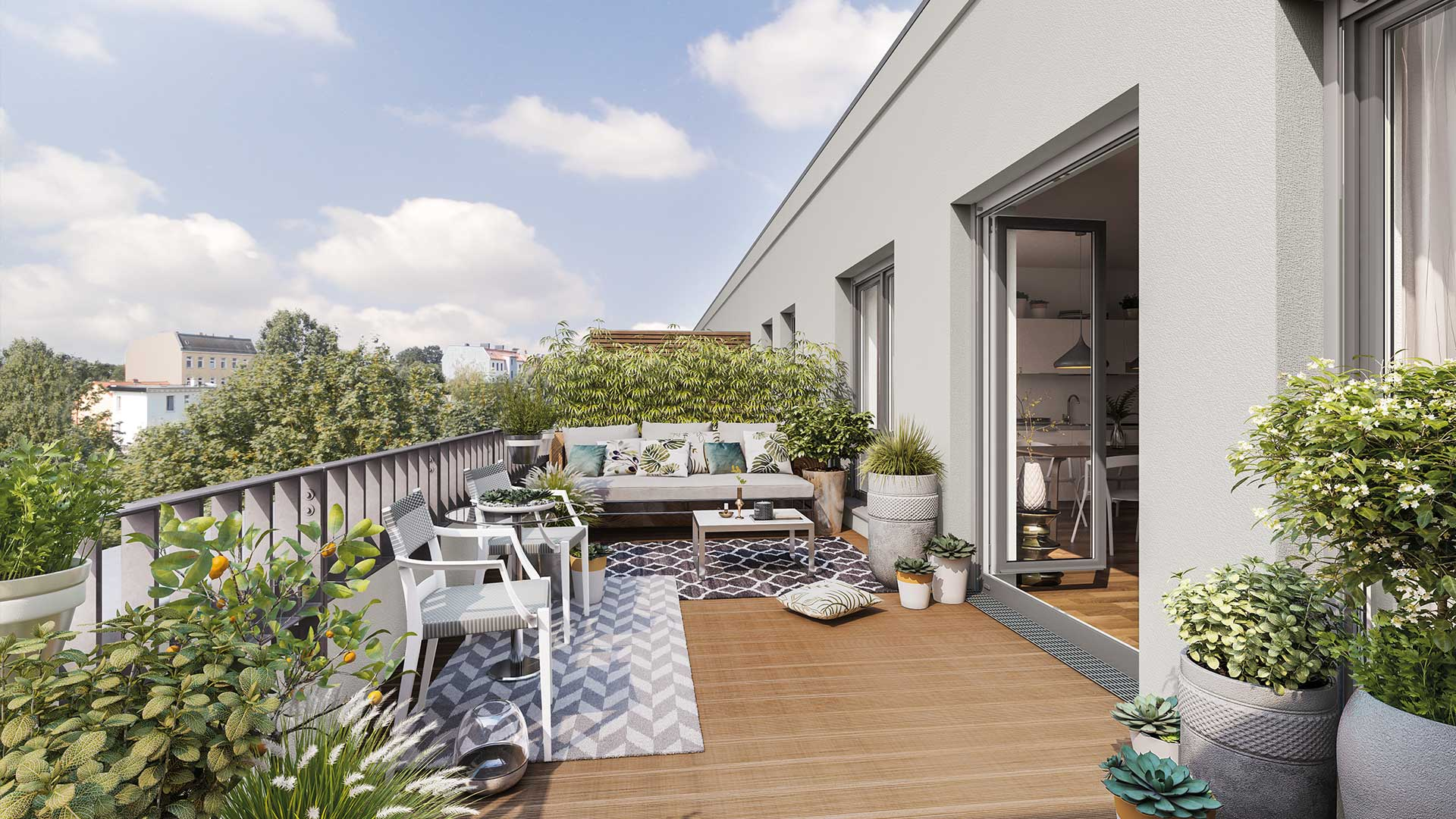 Roof terrace apartment