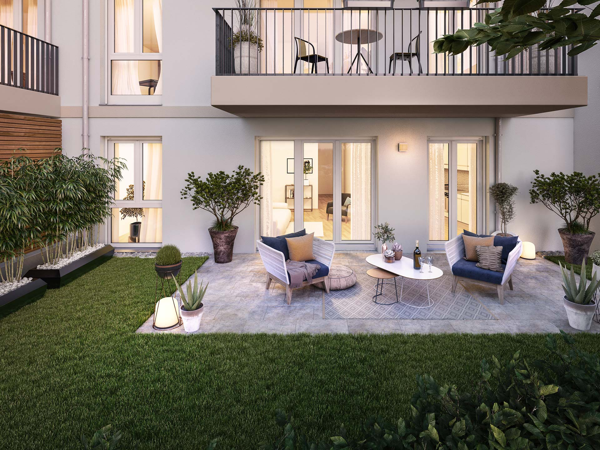 Garden apartment with cosy terrace