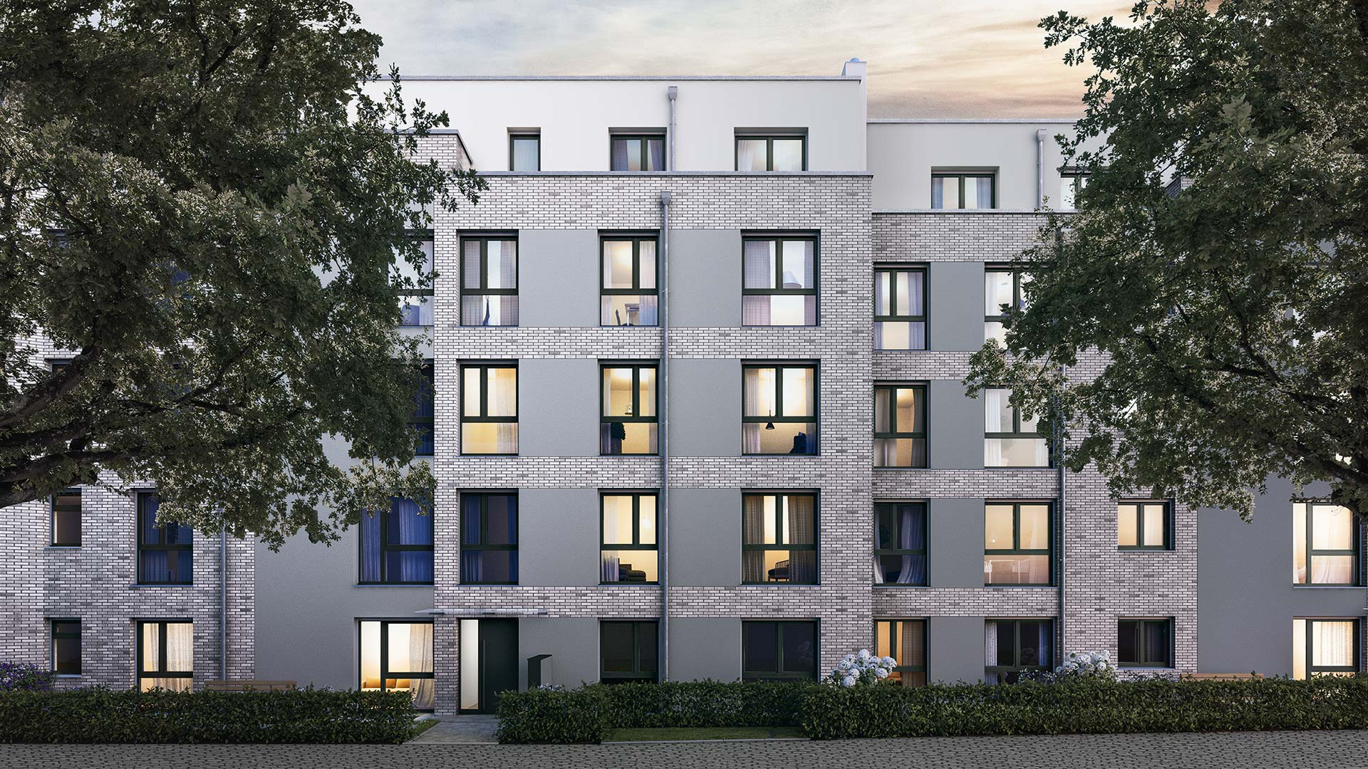 BAHRENGOLD: new residential building with a clinker facade typical for Hamburg