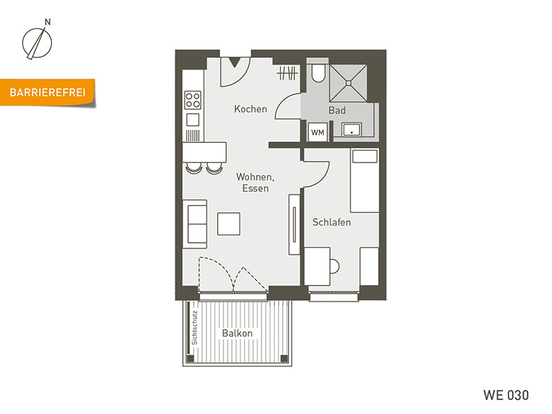 herz BERLIN | WE30 | 2-Zi. | 46 m²