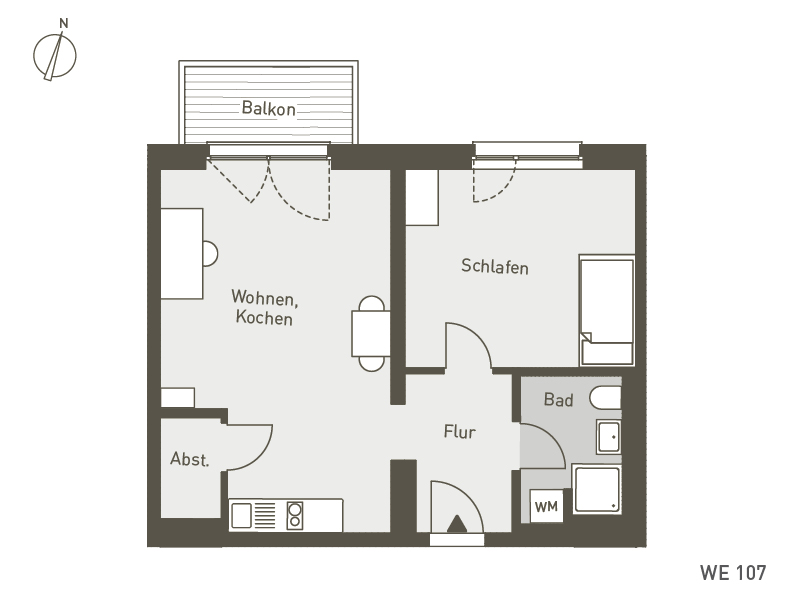 Studio Living Berlin B.1 | WE107 | 2-Zi. | 53 m²