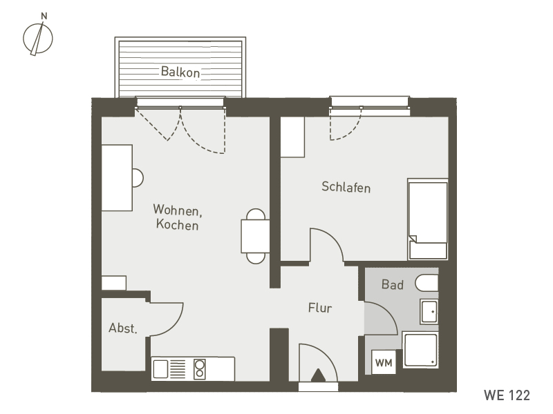 Studio Living Berlin B.1 | WE122 | 53 m²