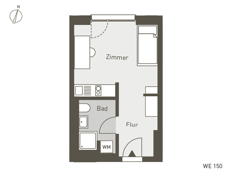 Studio Living Berlin B.1 | WE150 | 1-Zi. | 25 m²