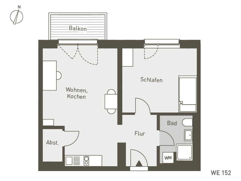 Studio Living Berlin B.1 | WE152 | 53 m²