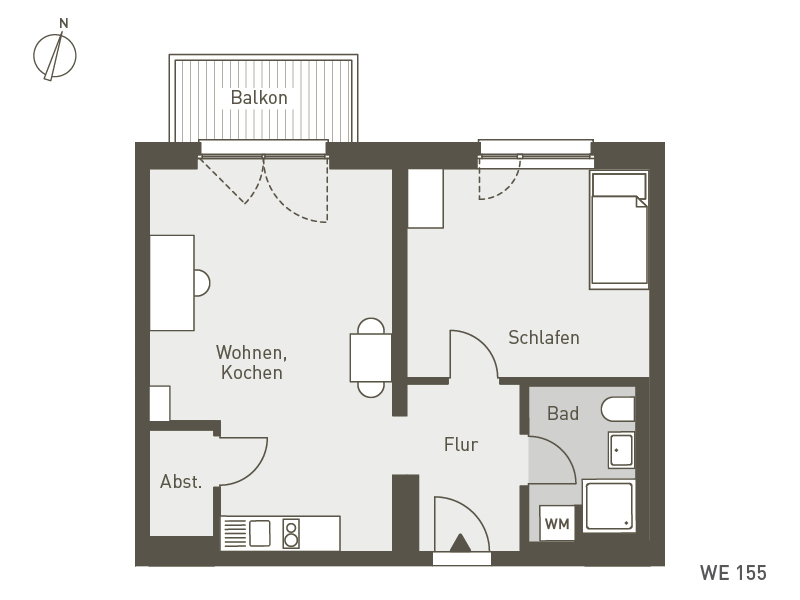 Studio Living Berlin B.1 | WE155 | 53 m²