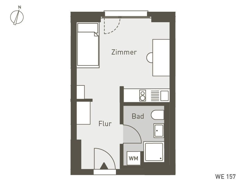 Studio Living Berlin B.1 | WE157 | 1-Zi. | 25 m²