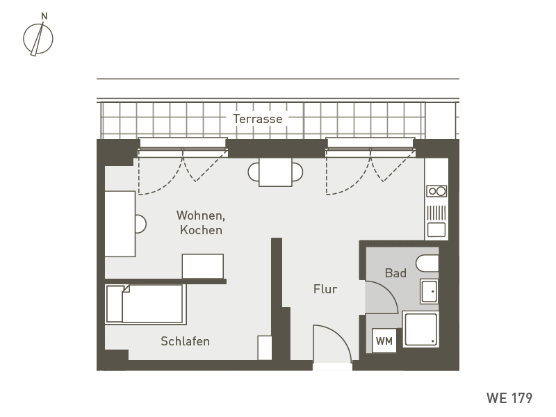 Studio Living Berlin B.1 | WE179 | 43 m²