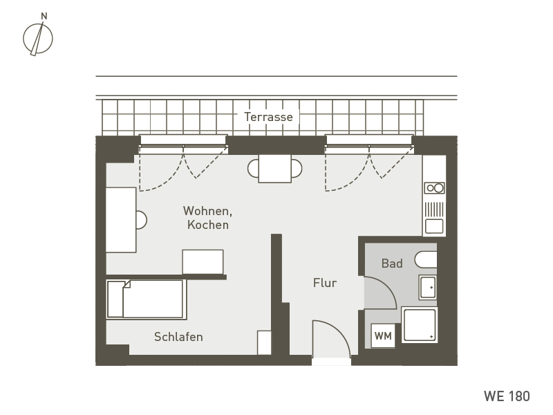 Studio Living Berlin B.1 | WE180 | 43 m²