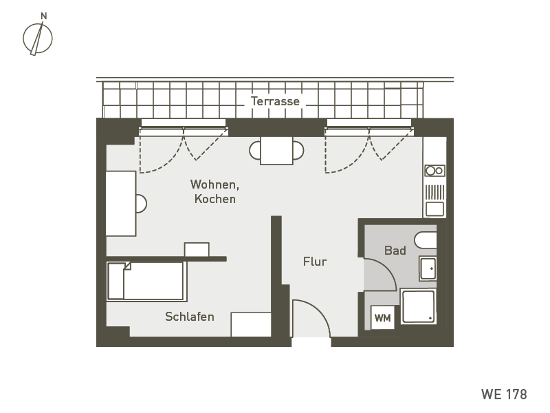 Studio Living Berlin B.1 | WE178 | 43 m²