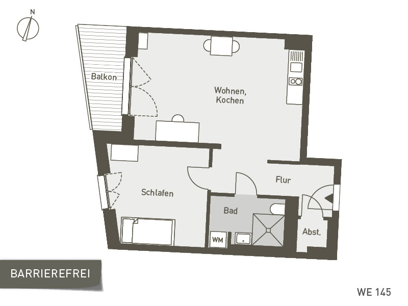 Studio Living Berlin B.1 | WE145 | 57 m²