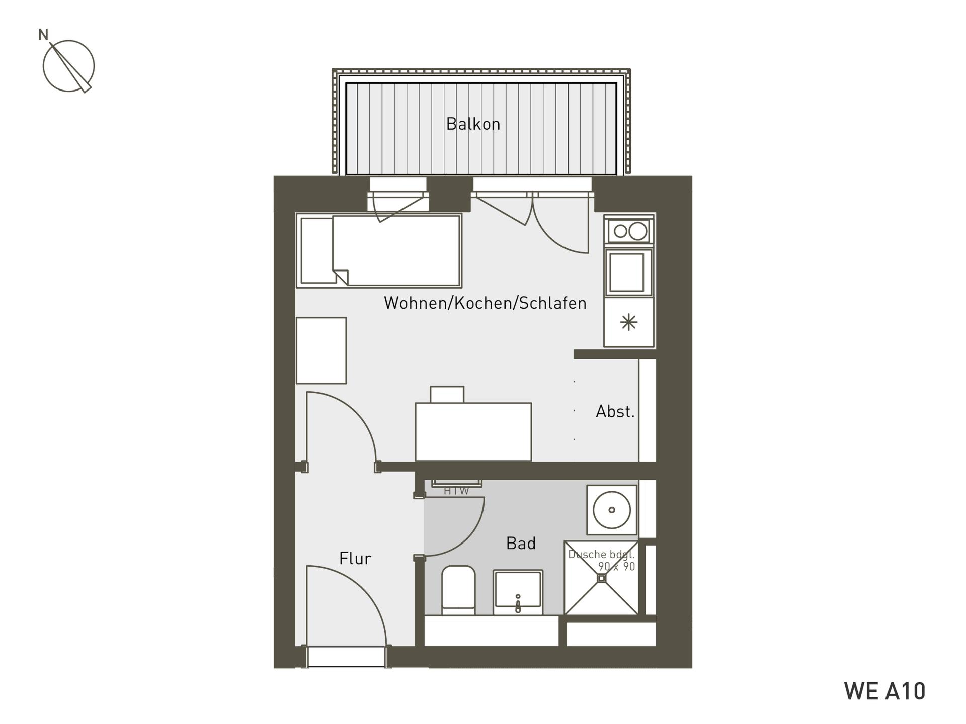 Studio Living Berlin B.2 | A10 | 24 m²
