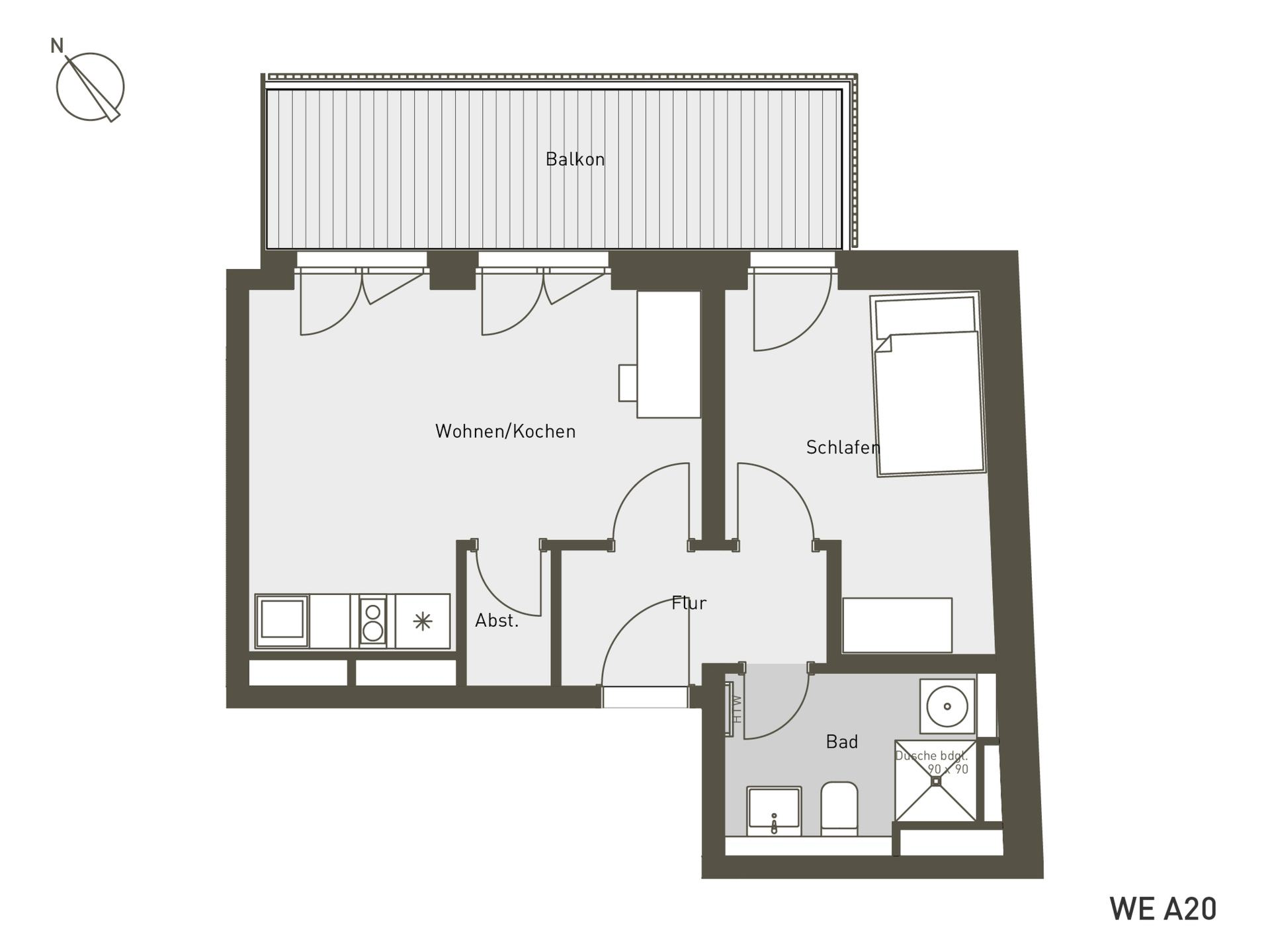 Studio Living Berlin B.2 | A20 | 45 m²