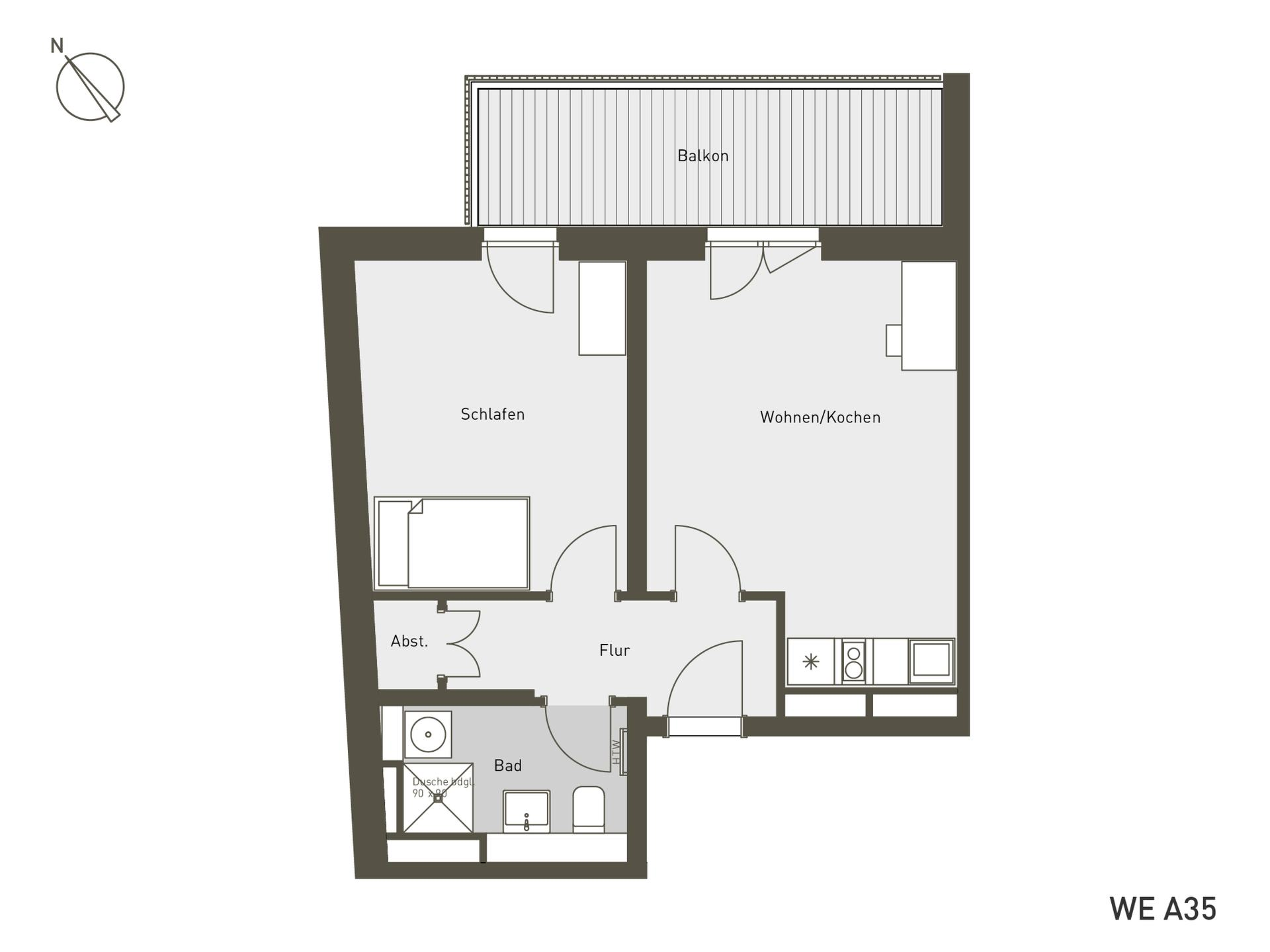 Studio Living Berlin B.2 | A35 | 53 m²
