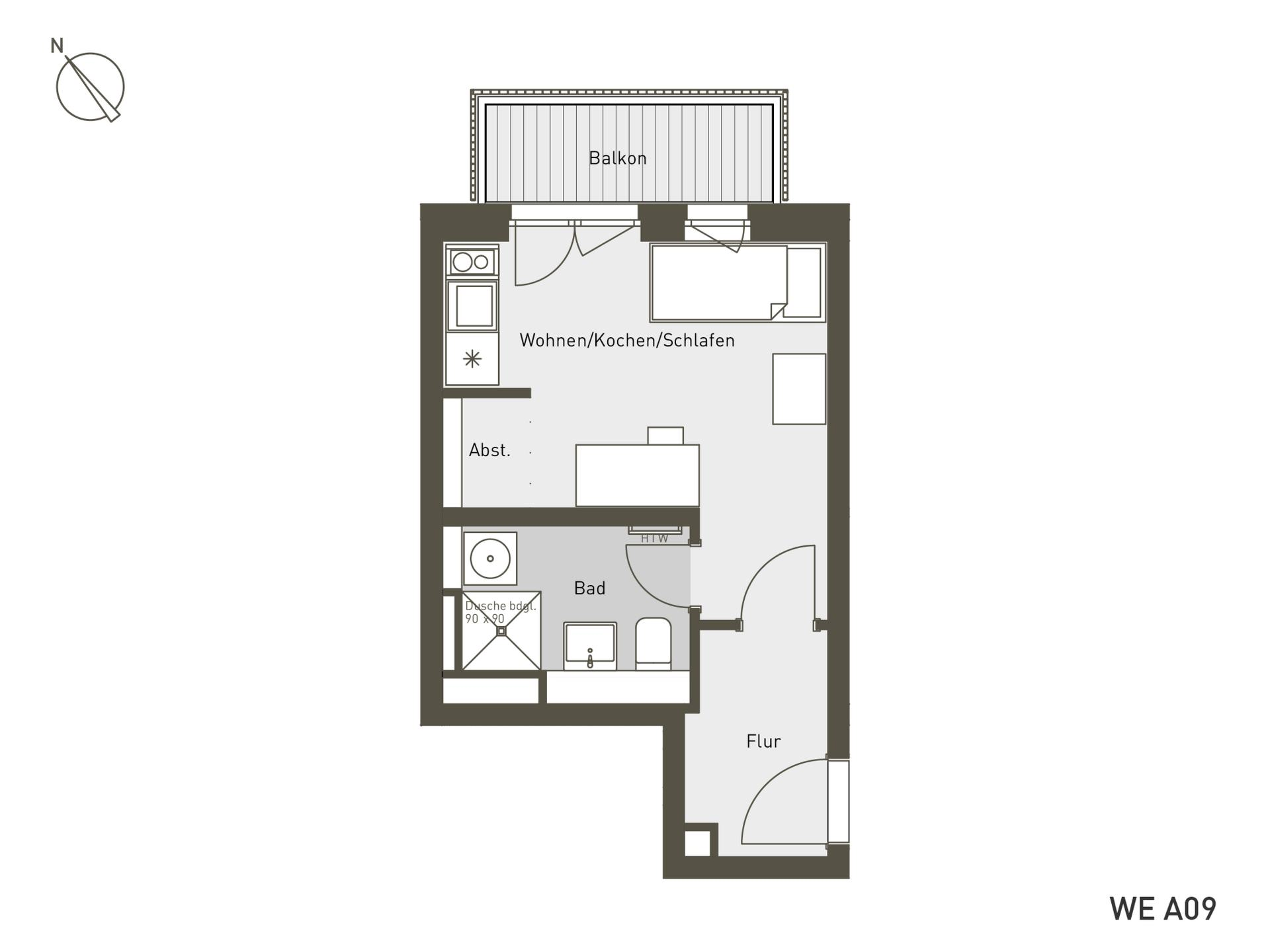 Studio Living Berlin B.2 | A09 | 26 m²