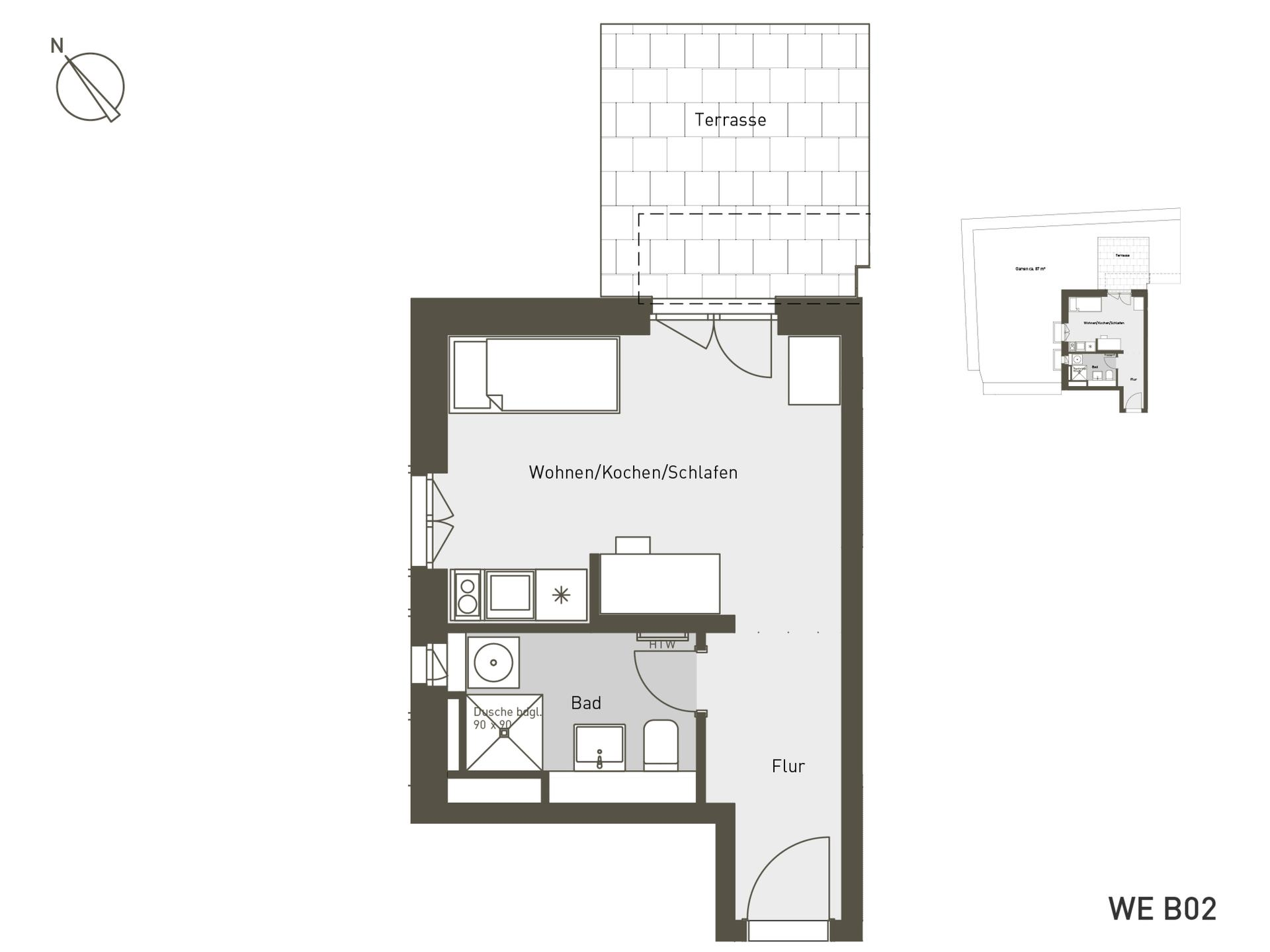 Studio Living Berlin B.2 | B02 | 31 m²